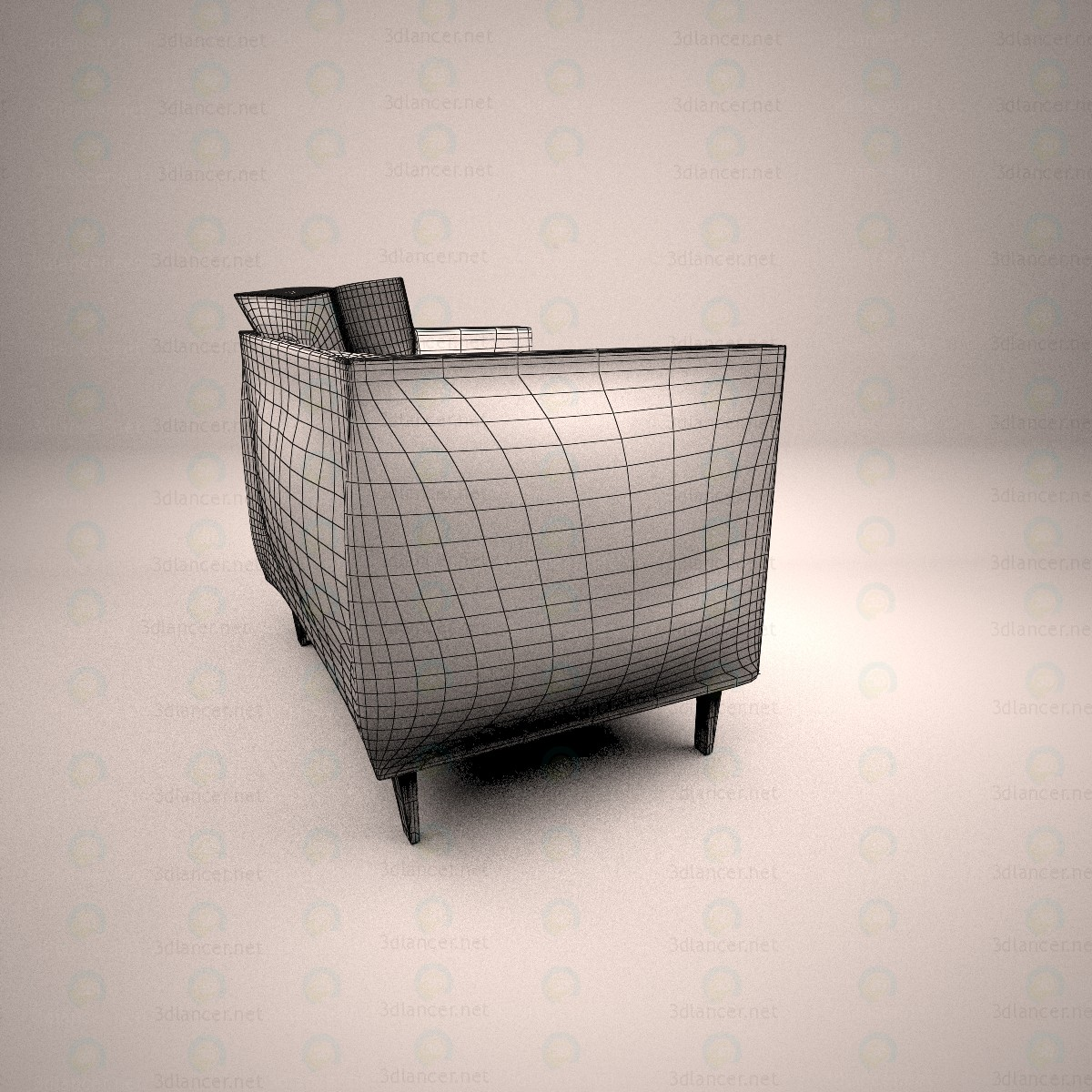 3d Chair for the living room model buy - render