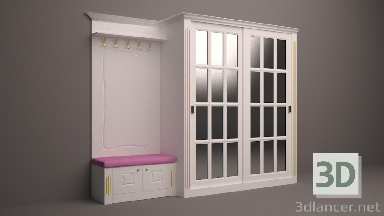3d modeling Hallway model free download