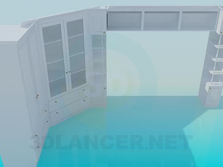 modello 3D Armadio - anteprima