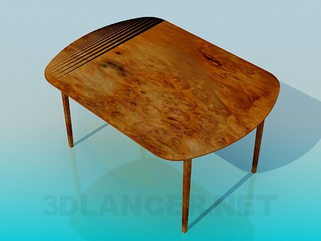 3d model Dining table - preview