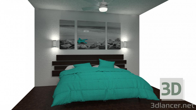 3 डी मॉडल साधारण बेडरूम - पूर्वावलोकन