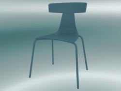 Sedia impilabile REMO sedia in plastica (1417-20, plastica avion blu, avion blu)