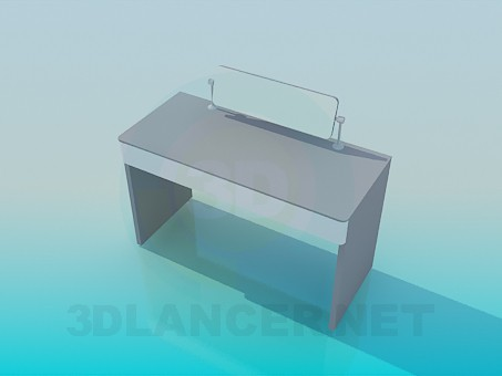 3d model Writing desk with stand - preview
