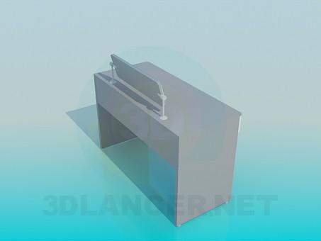 modelo 3D Escritorio con soporte - escuchar