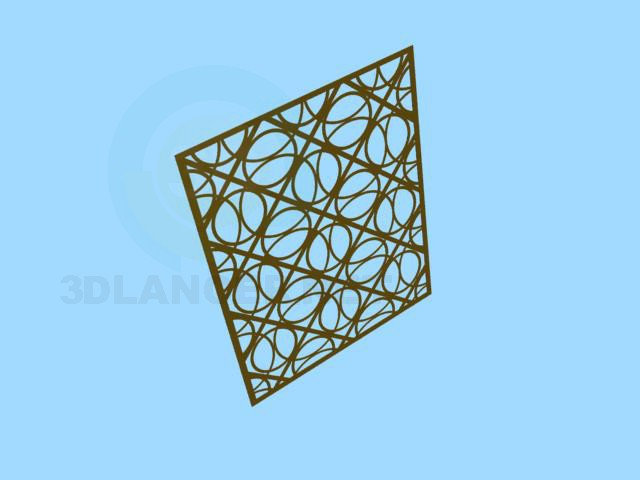 3d modeling Decorative wall model free download