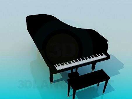 3d modeling Piano model free download
