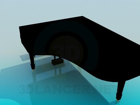 modelo 3D Piano - escuchar