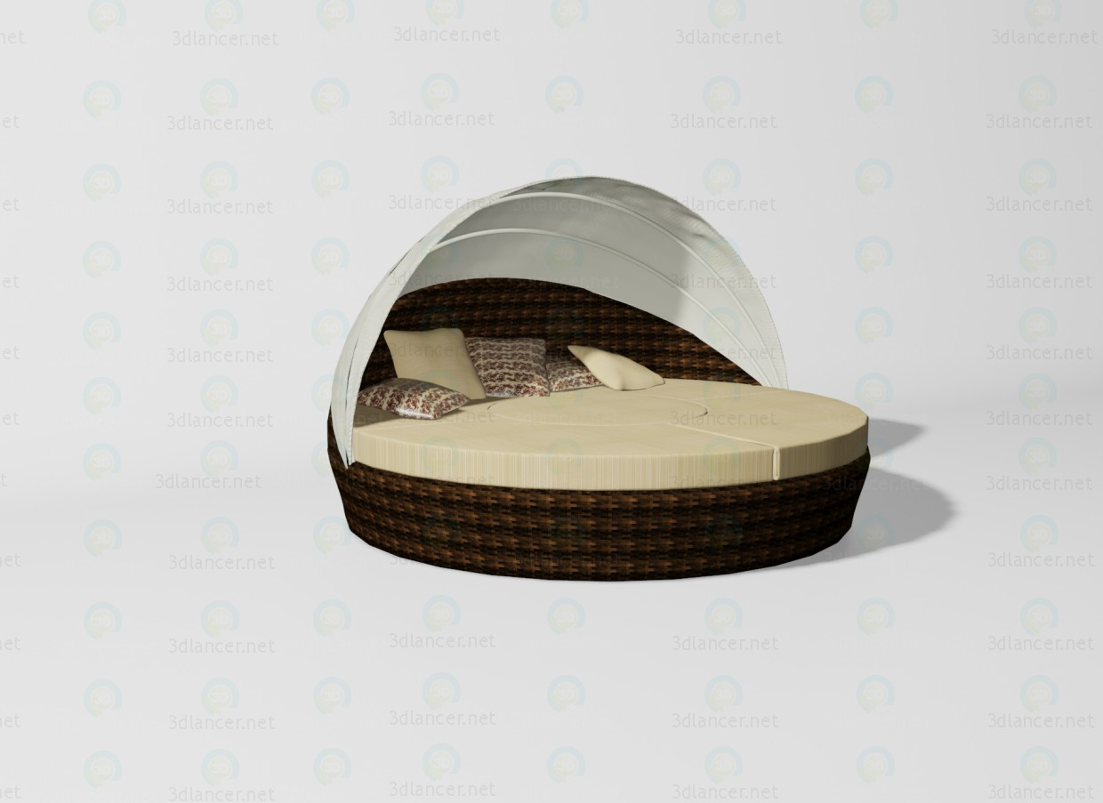 3d model Baleares bed - preview