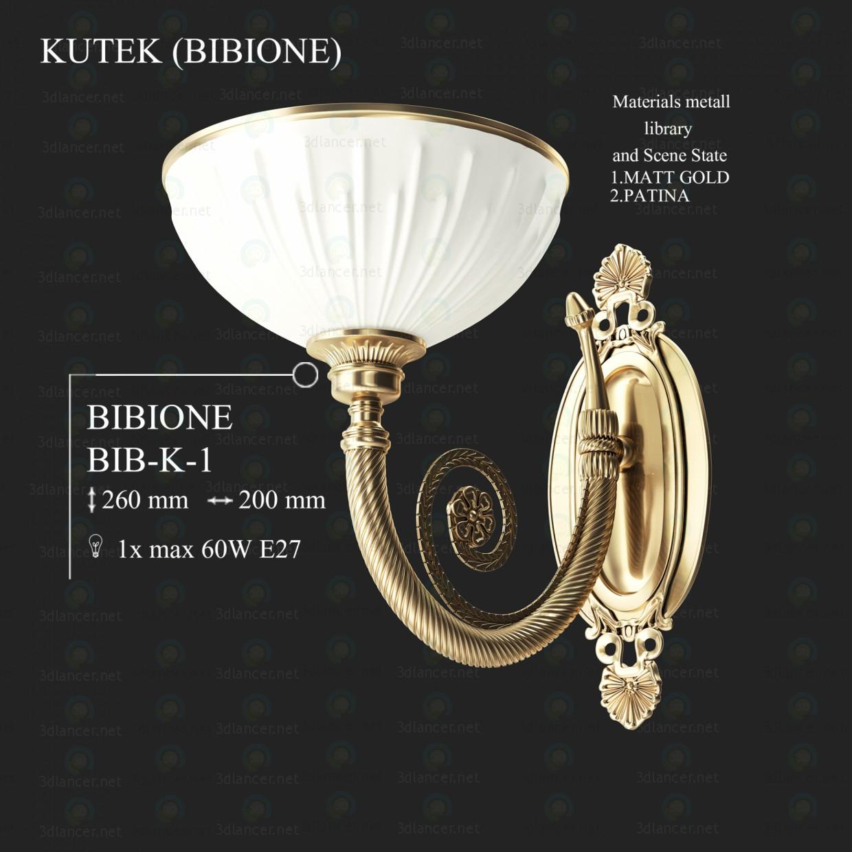 modelo 3D Candelabro de pared KUTEK BIBIONE babero-K-1 - escuchar