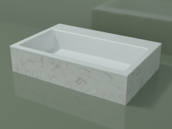 Countertop washbasin (01R141302, Carrara M01, L 72, P 48, H 16 cm)