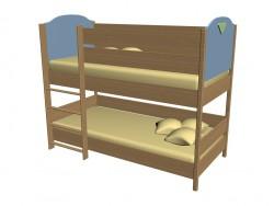 Ліжко Двоярусне 63KV07L 2 ліве