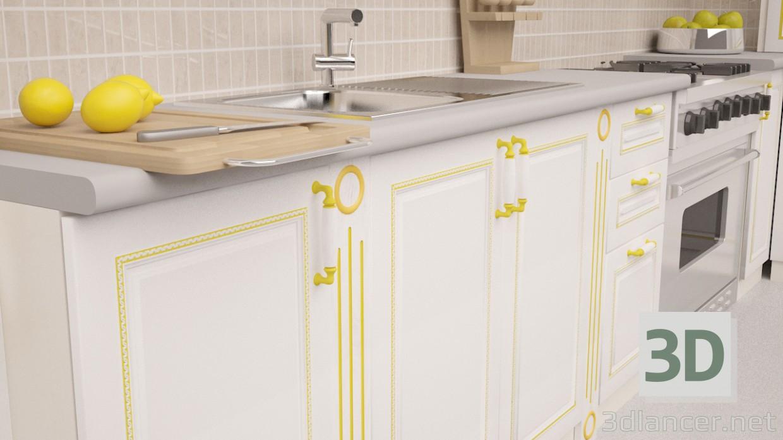 Modelo 3d cocina de esquina estilo clasicismo descargar gratis for Cocinas en 3d gratis