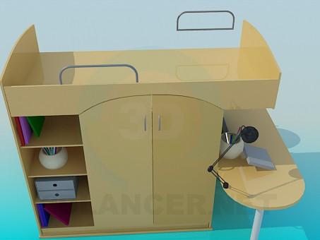 3d моделирование мебель в детскую модель скачать бесплатно
