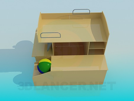 3d model furniture in the nursery - preview