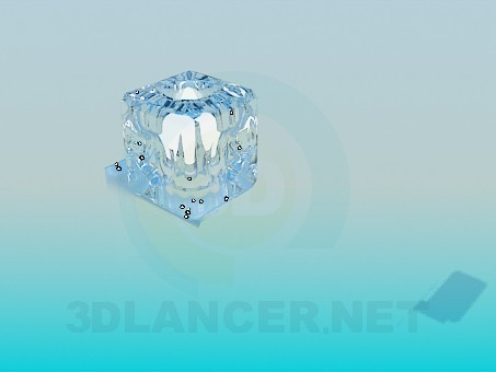 3d modeling The lamp in the form of ice cubes model free download