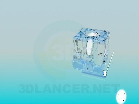 modelo 3D La lámpara en forma de cubos de hielo - escuchar