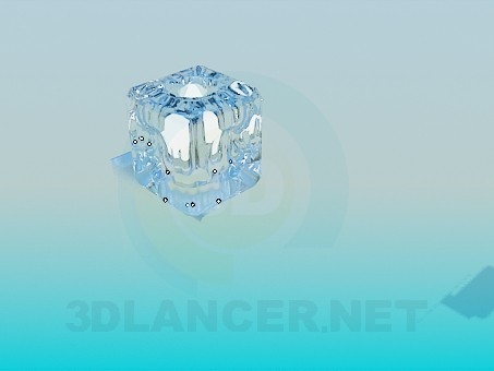 3d модель Светильник в виде кубика льда – превью
