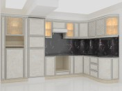 Classical white marble kitchen