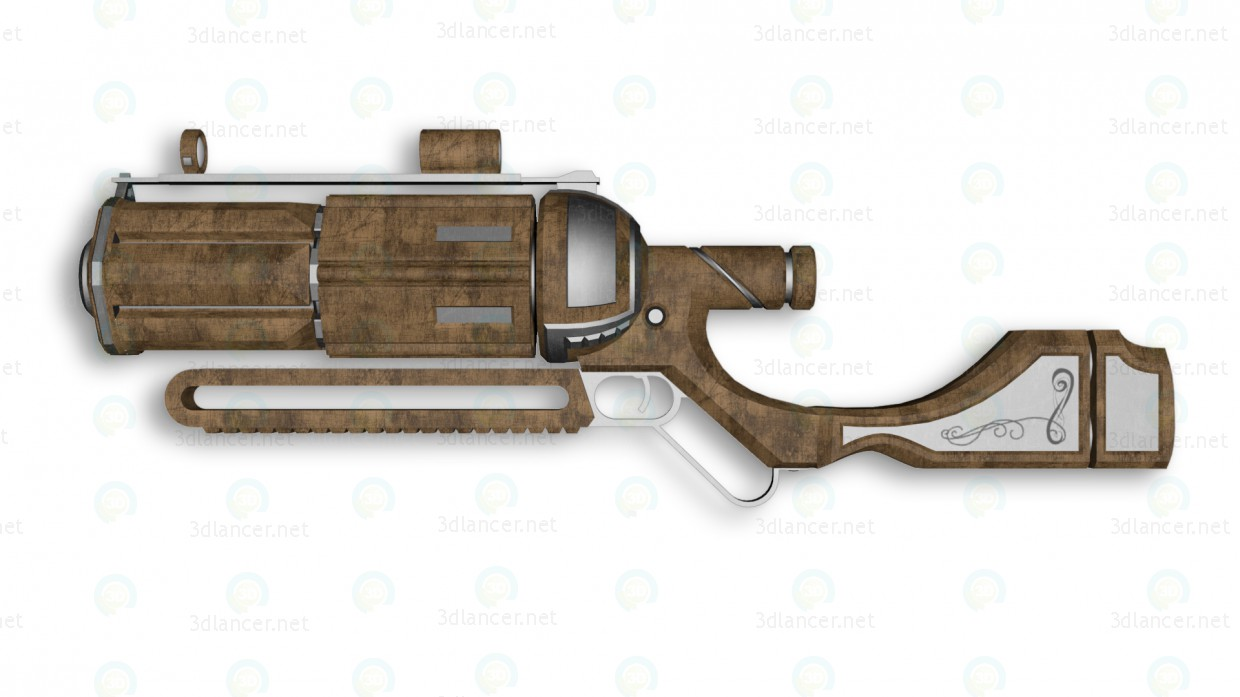 "3d Rifle ""Bulldog"" model buy - render"