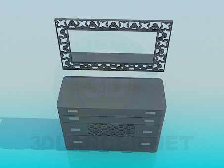 3d modeling Dresser model free download