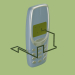 3d Snake game on the phone model buy - render