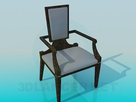 3d моделювання Широкий стілець із звуженою спинкою модель завантажити безкоштовно