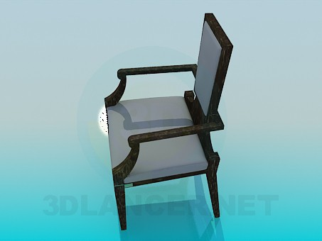 3d model A chair with the narrower back - preview