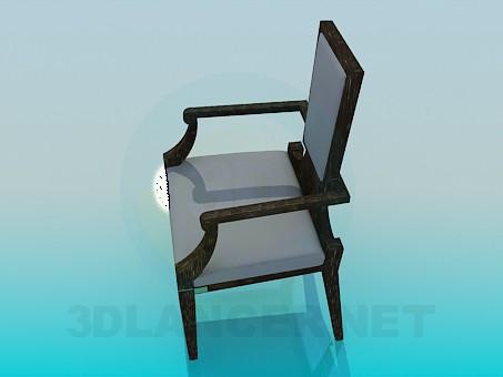modelo 3D Una silla con la espalda más estrecha - escuchar