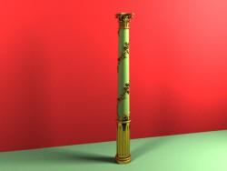 Columna dorada tallada