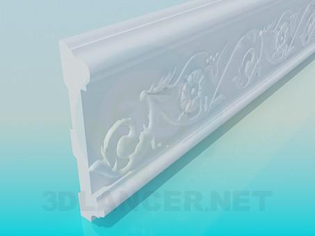 modelo 3D Marcos de techo alto poli - escuchar
