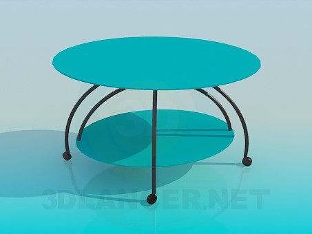 3d model Oval table - preview