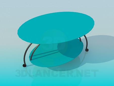 modelo 3D Mesa ovalada - escuchar
