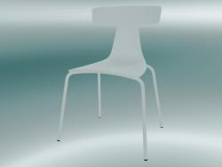 Sedia impilabile REMO sedia in plastica (1417-20, plastica bianco, bianco)