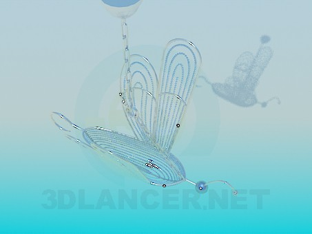 3d model Chandelier Butterfly - preview