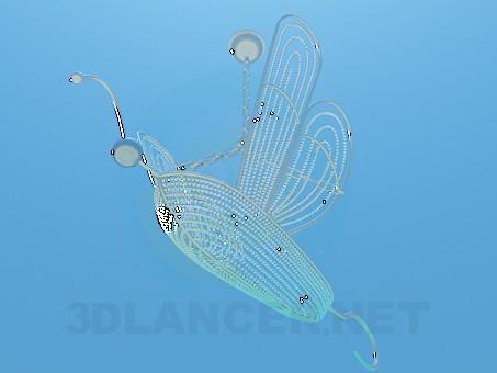 modelo 3D Candelabro mariposa - escuchar