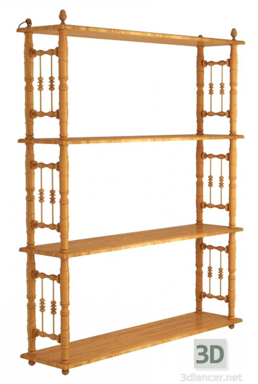 3d model 19th century hanging shelves - preview