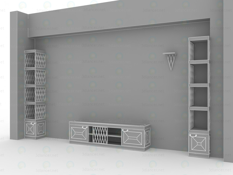 3d Корпусні меблі для класичної вітальні модель купити - зображення