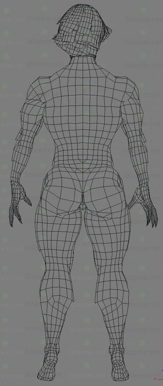3d Женщина демон модель купить - ракурс