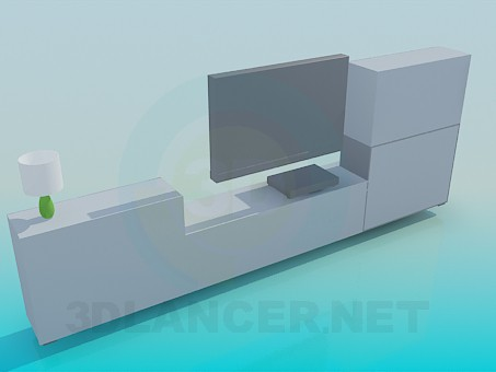 3d model Furniture in the room - preview