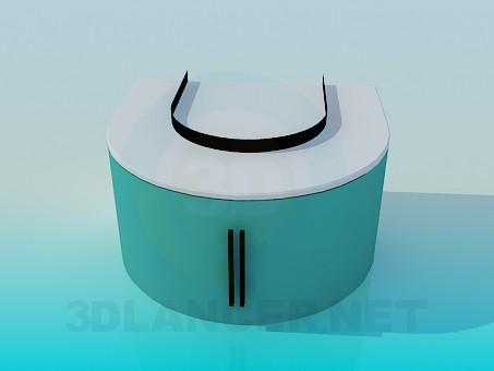 3d модель Приставная тумба – превью