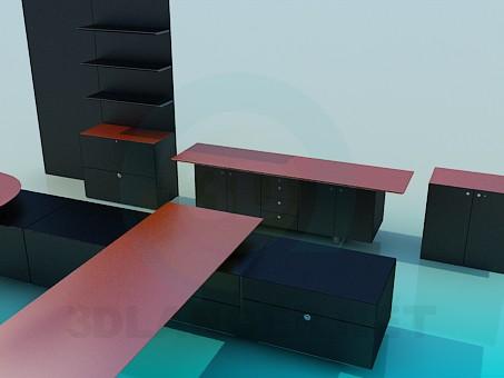modelo 3D Conjunto de muebles de sala de estar - escuchar