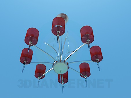 3d model Chandelier decorated with Crystal peaks - preview