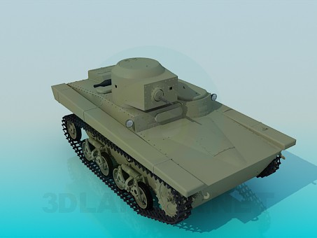 3d model T-37A - preview
