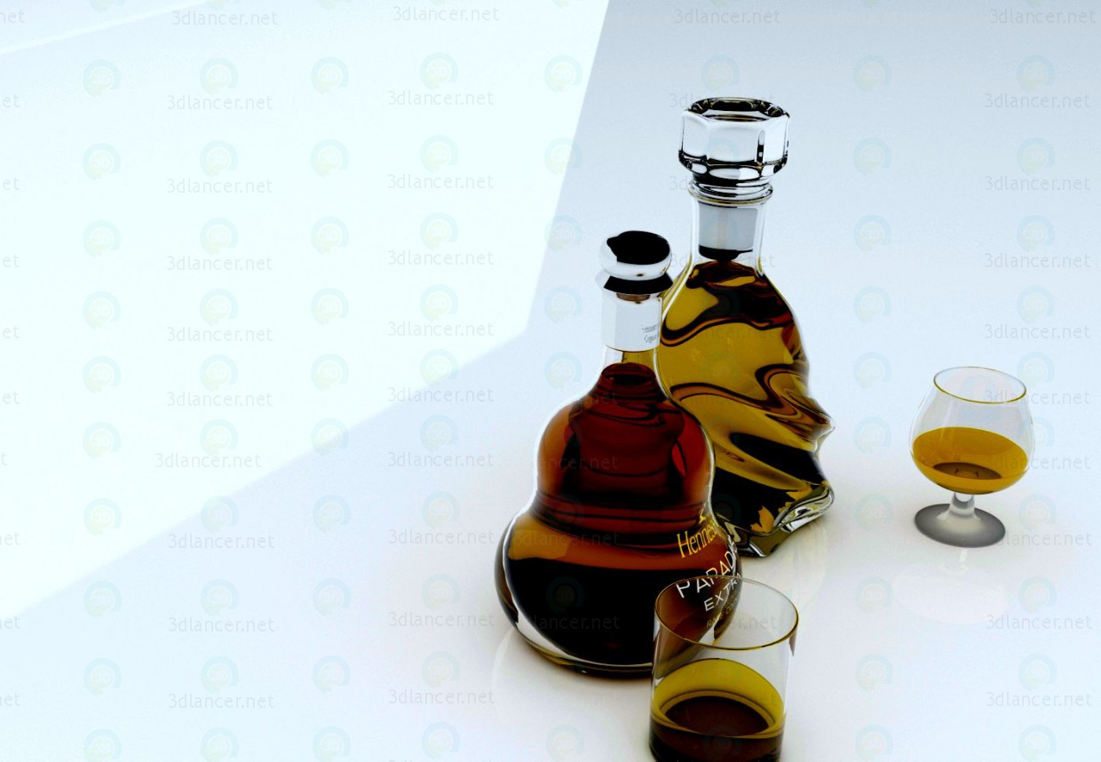 3d Cognac model buy - render
