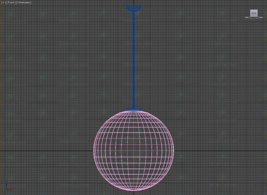 3d Lamp Moon model buy - render