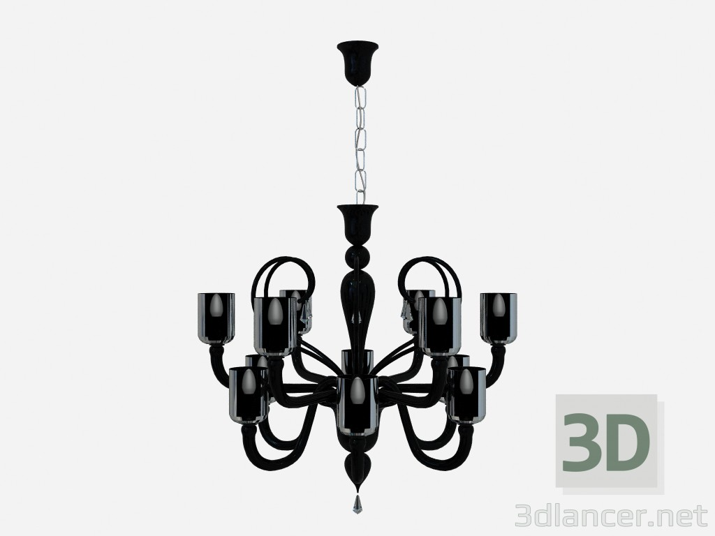 3d model Ceiling fixture Chandelier Lamp 12 arms - preview