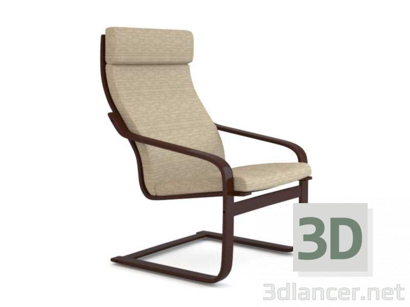 3 डी मॉडल कुर्सी IKEA Poeng - पूर्वावलोकन
