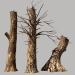 3d Dead wood model buy - render
