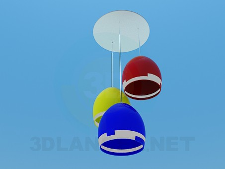 3d model Colored lamp - preview