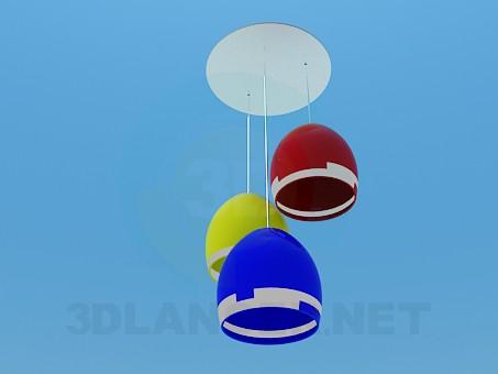 3d моделирование Цветной светильник модель скачать бесплатно